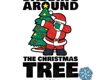 SVG & DXF design - Dabbing around the Christmas Tree t-shirt and decal cut file for die cutting machines (Cricut \ Silhouette)
