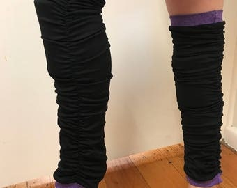 Padded leg warmers, Crash leg warmers, Girls to ladies sizes