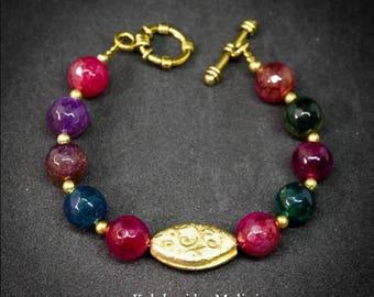 Semiprecious Bracelet, Ethnic Bracelet , Beaded Bracelet, Handmade Bracelet, Stone Bracelet,Hippie Jewelry, Ibiza Style,