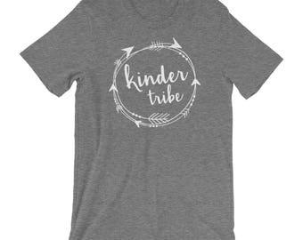 Kindergarten Grade Teacher T-shirt | Tribe & Team Grade Level Shirt | Super-Soft  | Elementary | School Spirit Shirt | Prek