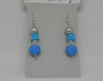 Earrings dice and beads