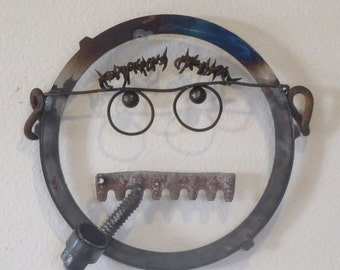 Mr. Mustache Metal Decor