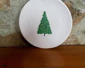 Christmas Tree Plate, Christmas Plate, Cookie Plate, Holiday Plate, Christmas Decoration