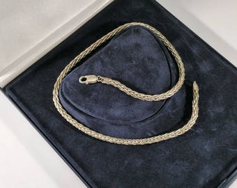 Snake chain necklace Silver 925 Italy SK578