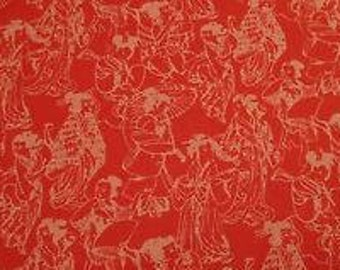 Asian Collection 2010; Alfred Shaheen for Free Spirit; 1/2 yard woven cotton fabric