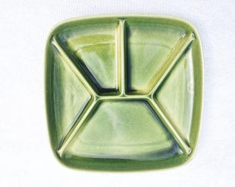Square Party Platter Royal Sphinx Maastricht Vintage Green Plate  Snack Plate Party Plate Serving Tray 8.75x8.75 Inches
