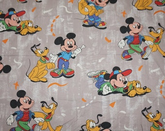 "Vintage fabric cotton cotton fabric Mickey Mouse 50 x 130 cm (19 x 51 "")"