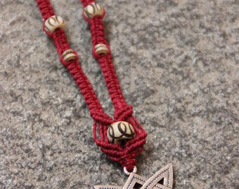 Viking Cross - Yak Bone Bead - Tribal - Ethnic - Gypsy - Celtic - Scotland - Lorient - Rune - Heritage - GOT
