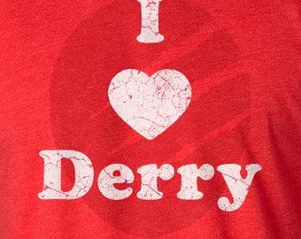 Stephen King IT Shirt, Stephen King IT, Stephen King Shirt, IT Movie, It, Stephen King It Clown, Stephen King Balloon, I Heart Derry Shirt