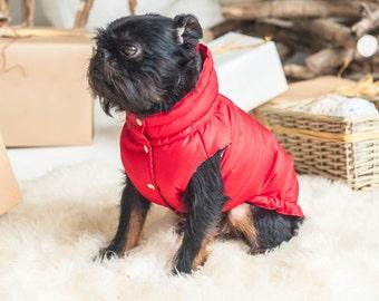 Warm Dog Vest - Christmas - Gift - Dog Raincoat - Dog Coat - Dog Clothing - Pet Clothes - Available to Any Breed - Small & Big dog