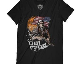 Guns t-shirt history buff shirt America t-shirt fathers day shirt president t-shirt soldier t-shirt firefighter shirt   AP67