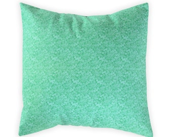 Emerald Pillow Cover - Green Floral Pillow Cover