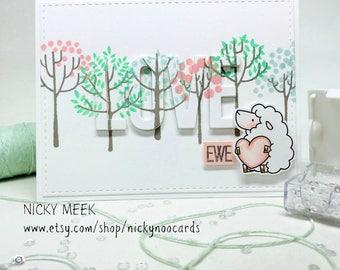 Handmade LOVE Card - Punny