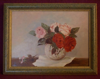 Oil on canvas - Still life - Signed and framed
