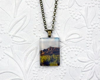 Canyonlands National Park Rectangle Photo Pendant Souvenir Pendant Rectangle Photo Jewelry