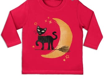Witch's Cat long sleeve baby t-shirt