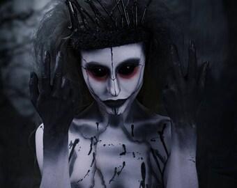 Dark forest queen black branch headdress