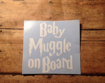 Harry Potter decal, car decal, baby on board decal, Harry Potter stickers, Harry Potter car decal, decals, harry potter baby, baby on board