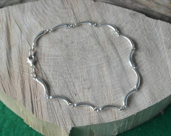 Vintage Sterling Silver Horn of Plenty heavy gauge Bracelet