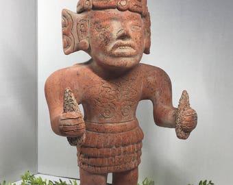 Vintage Mexican Aztec Mayan Statue Folk Art