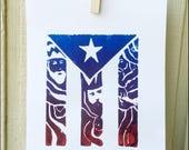 Reyes en tiempo de PROMESA - Linocut Print