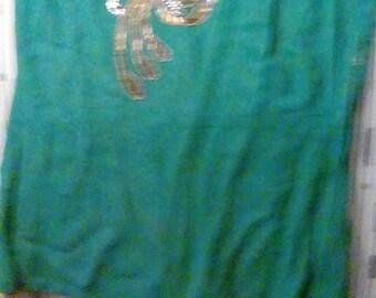 40s beaded top emerald green