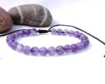 Amethyst bracelet men bracelet womens bracelet calming bracelet Purple Bracelet Bead Bracelet Healing Bracelet Amethyst for Men Gift for him