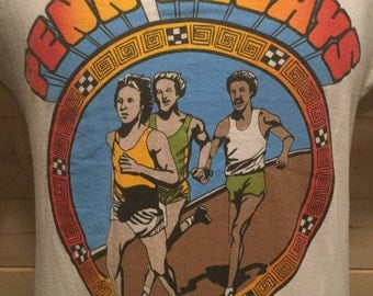 Vintage 1980's Penn Relays T-Shirt Great Color Made in USA