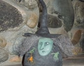 Maude with Spider Witch Soft Sculpture Primitive Doll