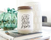 Sugar + Spice Fall Candles, Hand-lettered, 12 oz.
