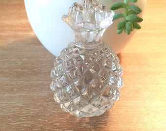 Vintage Glass Pineapple Paperweight Pineapple Decor