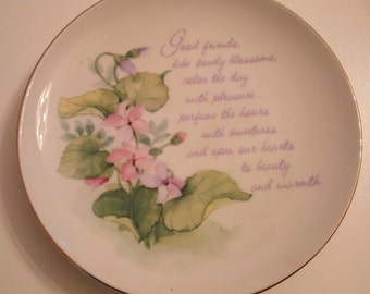 Friendship Lasting Memories Fine Porcelain Plate
