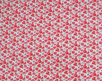 """Floral Print Fabric, Handcrafted, White Fabric, Sewing Accessories, Designer Fabric, 42"""" Inch Cotton Fabric By The Yard ZBC6791"""