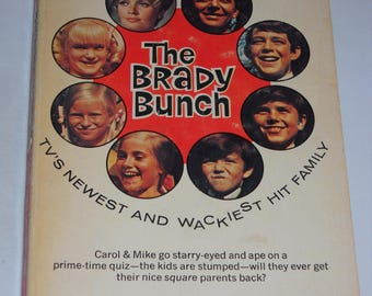 1969 Brady Bunch #1 TV tie-in series vintage paperback book by William Johnston - Lancer Books