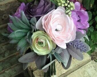 Lavender Succulent Bouquet