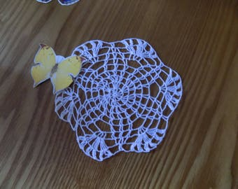 New Hand Made Vintage Style White Crochet Circular  Shape Doily Table Centre Hungarian Pattern
