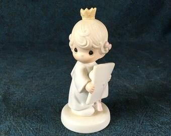 Vintage Precious Moments Figurine, Congratulations Princess, Precious Moments Graduate Figurine