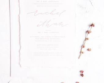Calligraphy Wedding Invitations // Semi-Custom Invitation Suite // Save the Date Suite // Wedding Invitation Suite // FINLEY