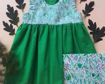 Little dress - Greenary confetti