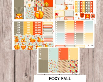 FOXY FALL Planner Stickers | perfect for vertical Erin Condren Life Planner | L271