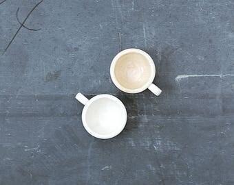 2 Ironstone Coffee Cups