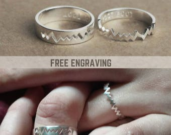 Personalized Promise Ring, Couples Ring, Gifts For Him, Couple Ring Set, His and Her Promise Ring, Promise Rings For Couples, Couples Set