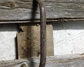 Antique Barn Door Pull Handle , A True Beauty , Hand forged , Just One Like This , Authentic 1800's