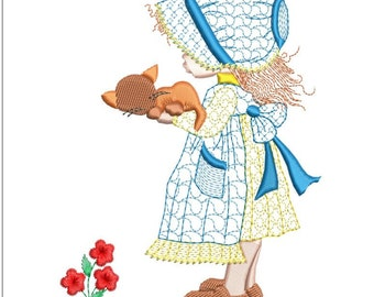 HOLLY HOBBIE machine embroidery download3 diff sizes ( 4x4  5x5  6x6)