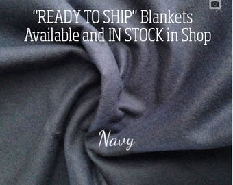 Solid Color, Weighted Blanket, Navy, Up to Twin Size 3 to 15 Pounds.  SPD, Autism, Weighted Blanket.