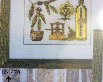 Permin of Copenhagen, Olive Tree oil press Danish Art Needlework Embroidery Kit, Made in Denmark Kit 12-1470
