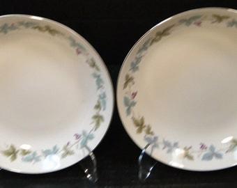 "TWO Fine China of Japan Vintage Soup Bowls Pasta 7 1/2"" 6701 Set of 2 EXCELLENT!"