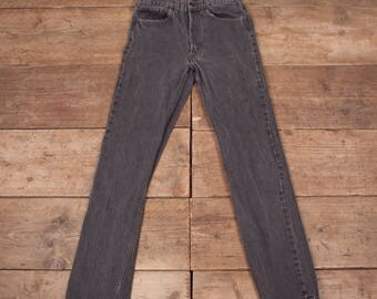"""Mens Vintage Levis 501 Red Tab 1990s Grey Jeans USA 30""""x 34"""" R7020"""