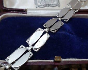 "Beau sterling vintage solid silver bracelet, signed, 7.5"", beautiful"