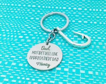 Personalised Dad Gift, Fathers Day Gift Fishing, Personalised, Dad Keyring, Dad Gift, Fathers Day Gift, Fathers Day Gift First Time Dad, Dad